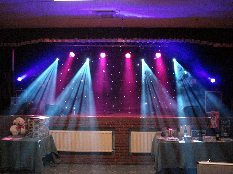 stage lighting and effects hire in birmingham and west